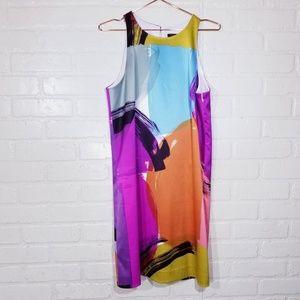 Ann Taylor watercolor print dress sz 12